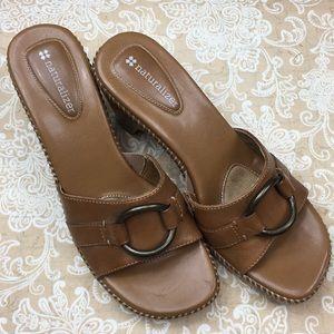 Naturalizer Shoes - Naturalizer Zarna Brown Leather Sandal